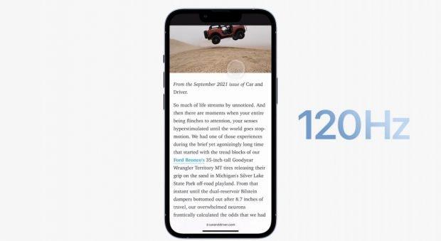 iPhone 13 Pro mit ProMotion
